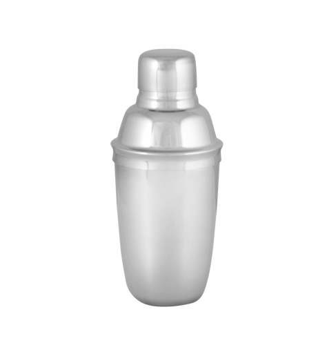 8 Ounce Stainless Steel Cocktail Shaker Set with Smooth Chrome Design