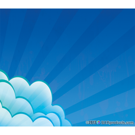 4'' x 3.5'' Vinyl Stickers (5 Pack) - Clouds