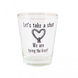 Tying the Knot Wedding Shot Glass