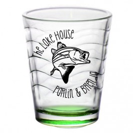 1.75oz Custom Green Wave Shot Glass