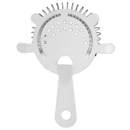White Cocktail Strainer - 4 Prong