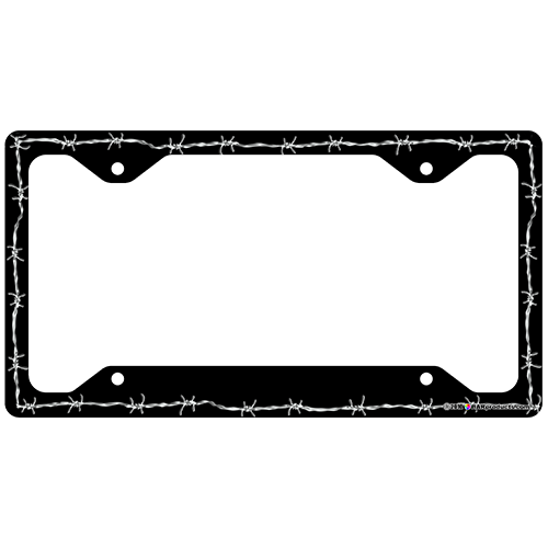 Barbed Wire License Plate Frames