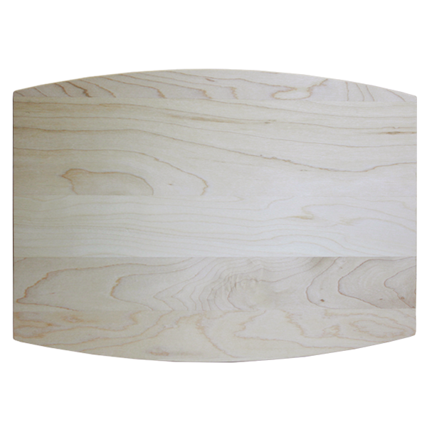 Engraved maple wood cutting board with juice groove back