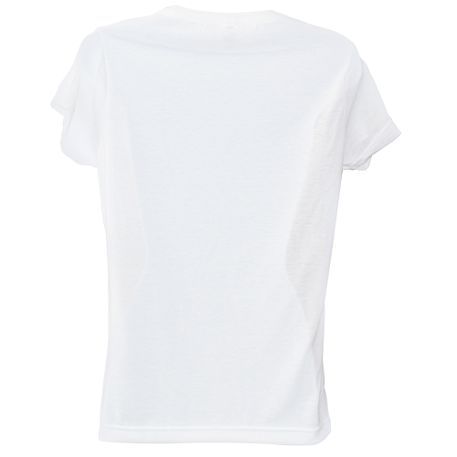 Women 39 s kolorcoat lightweight white t shirt front and back for Custom t shirts front and back