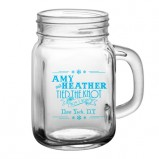 Snowflake Themed Add Your Name Wedding Mason Jar Glass