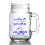 Custom Design Mason Jars with Handles 16.5oz