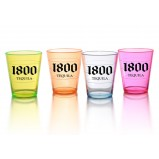 2oz Translucent Assorted Color Plastic Shot Glasses