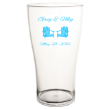 Custom BarConic® Clear Polycarbonate Cup - 570mL/19.3 oz