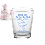 Add Your Name Tied the Knot Wedding Shot Glass
