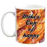 Bacon Background Custom Coffee Mug - 11 ounce