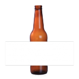 6 Pack - Design your own Beer Bottle Labels White
