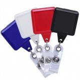 Square Plastic Badge Reel, 4 colors pack - LG-BZ108