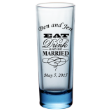 2oz BarConic® Tall Shot Glasses - Blue