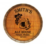 Add Your Name Ale House Barrel Top Tavern Sign