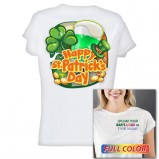 Women's Kolorcoat™ Lightweight Poly T-Shirt - Happy St. Patrick's Day