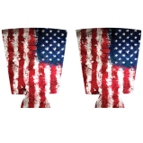 Grunge Flag Background Kolorcoat™ Custom Pint Glass Cooler