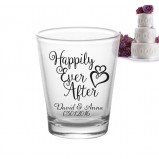 Happily Ever After Add Your Name Wedding Shot Glass Favors