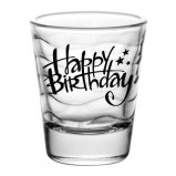 Happy Birthday Waves Shot Glass