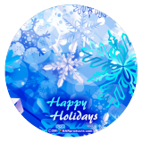 Holiday Kolorcoat™ Round Foam Coaster (4 Pack)