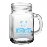 It's A Boy Add Your Name Baby Shower Mason Jar Glass