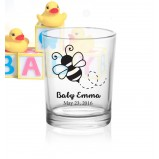 Add Your Name Mommy to Bee Votive Baby Shower Glass