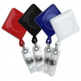 Diamond Shaped Plastic Retractable Badge Reel - 4 Colors Available (lg-rkrz353)