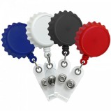 Plastic Bottle Cap Sytle ID Badge Reels