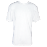 Men's Kolorcoat™ Lightweight White T-Shirt - Front and Back