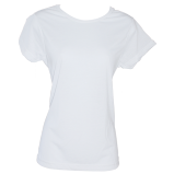 Women's Kolorcoat™ Lightweight White T-Shirt - Front and Back