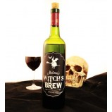 Add Your Name Halloween Themed Wine Label - Witch's Brew
