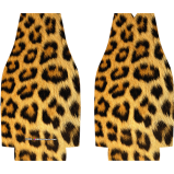 Animal Print Kolorcoat™ Zipper Bottle Coolers