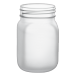 12oz BarConic® Frosted Mason Jar Mug with No Handle