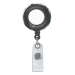 Black Translucent Plastic Badge Reel with Chrome Edges