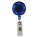 Blue Translucent Plastic Reel with Chrome Finish and Accent Holes