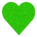 23 Piece Heart Shaped Puzzle - Green