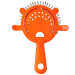 4 Prong Neon Orange Cocktail Strainer