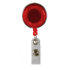 Red Translucent Plastic Reel with Chrome Finish and Accent Holes