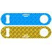 Blue & Yellow Lines and Squares StrainBlade® Opener