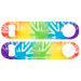 Tie dye zebra Speed Bottle Opener