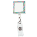 Square Bling Plastic Badge Reel