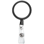 Large Face Black Plastic Badge Reel