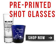 Pre-Printed Shot Glasses
