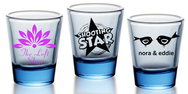 customized 3 oz. votive candle holder and shot glass