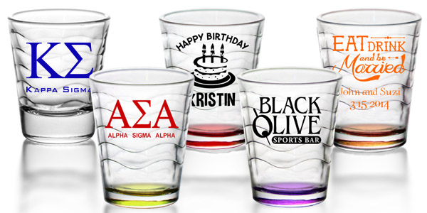 personalized shot glasses favors